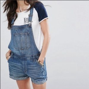Abercrombie & Fitch Jean Overall Shorts